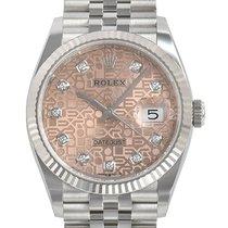 Rolex Datejust Stahl 36mm Pink Keine Ziffern Deutschland, Bietigheim-Bissingen