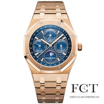 Audemars Piguet Royal Oak Perpetual Calendar Rose gold 41mm Blue No numerals United States of America, New York, New York