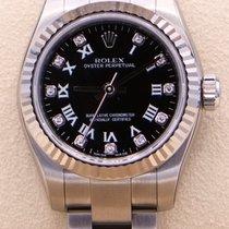 Rolex Oyster Perpetual 26 Steel 26mm Black Roman numerals