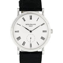 Patek Philippe White gold Manual winding White 36mm pre-owned Calatrava