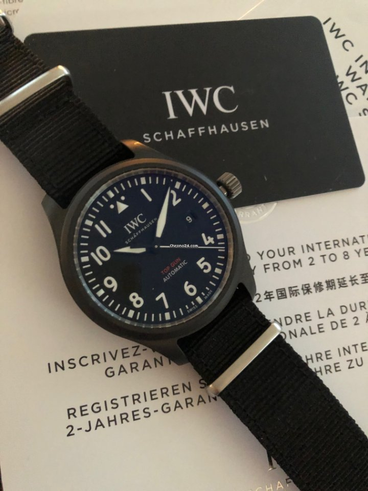 IWC Fliegeruhr Chronograph Top Gun IW326901 2021 neu