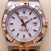 Rolex Datejust Turn-O-Graph Gold/Steel 36mm White No numerals