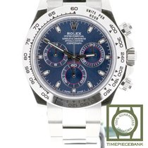 Rolex Or blanc Remontage automatique Bleu Sans chiffres 40mm nouveau Daytona