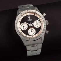 Rolex Daytona Steel 37mm Black No numerals