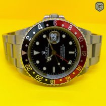 Rolex GMT-Master II Stål 40mm Sort Ingen tal