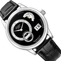 Glashütte Original Platinum Automatic Black No numerals 40mm new PanoMaticLunar