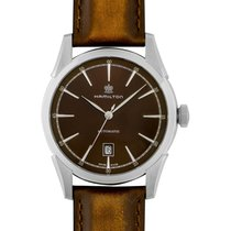 Hamilton Spirit of Liberty Acier 42mm Brun