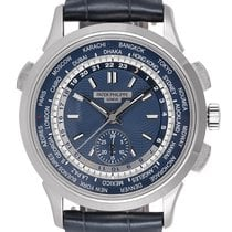 Patek Philippe World Time Chronograph Witgoud 39.5mm Blauw