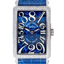 Franck Muller Crazy Hours White gold 32.5mm Blue Arabic numerals