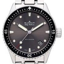 Blancpain 5000-1110-70B Stahl 2021 Fifty Fathoms Bathyscaphe 43,6mm neu