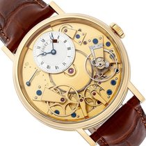 Breguet Yellow gold Manual winding Transparent Roman numerals 39mm new Tradition