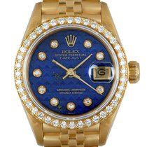 Rolex Yellow gold Automatic Blue 26mm pre-owned Lady-Datejust