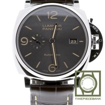 Panerai Luminor Due Acero 45mm Gris Arábigos
