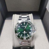 Oris Steel Automatic Green No numerals 43.5mm new Aquis Date