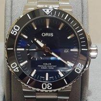 Oris Aquis Small Second Steel 45.5mm Blue No numerals