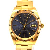 Rolex Oyster Perpetual Date Oro amarillo 34mm Azul Sin cifras España, Marbella
