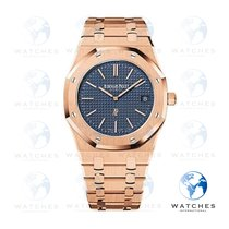 Audemars Piguet Royal Oak Jumbo Rose gold 39mm Blue No numerals United States of America, Florida