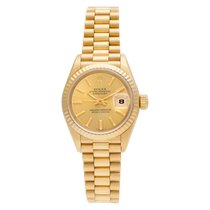 Rolex Automatic Gold No numerals 26mm pre-owned Lady-Datejust