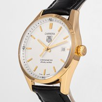 TAG Heuer Yellow gold Automatic White 40mm pre-owned Carrera