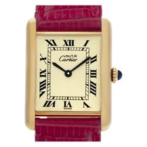 Cartier Tank Vermeil 24mm Champagne Roman numerals United States of America, Florida, Surfside