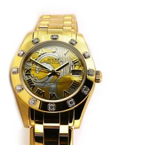 Rolex Pearlmaster Yellow gold 34mm White Roman numerals