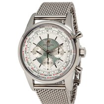 Breitling Transocean Chronograph Unitime Steel 46mm Silver United States of America, New York, Hartsdale
