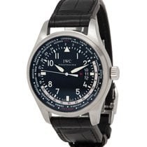 IWC Pilot Worldtimer Steel 45mm Black Arabic numerals United States of America, New York, Hartsdale