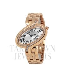 Cartier Délices de Cartier Rose gold 28mm Silver Roman numerals