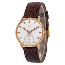 Longines Rose gold Manual winding White 35mm pre-owned