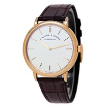 A. Lange & Söhne Rose gold Manual winding Silver 40mm pre-owned Saxonia
