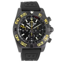 Breitling Chronomat GMT pre-owned 47mm Black Date Year GMT Rubber