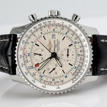 Breitling Navitimer World Steel 46mm White No numerals United States of America, New York, New York