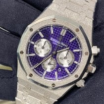 Audemars Piguet Royal Oak Chronograph White gold 41mm Purple No numerals United States of America, New York, Manhattan
