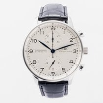 IWC Portuguese Chronograph IW371446 Very good Steel Automatic United Kingdom, Guildford,Surrey