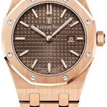 Audemars Piguet Royal Oak Lady Rose gold 33mm Brown No numerals United States of America, New York, NEW YORK