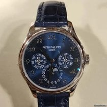 Patek Philippe White gold Automatic Blue Arabic numerals 39mm new Perpetual Calendar