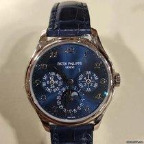 Patek Philippe Белое золото Автоподзавод Синий Aрабские 39mm новые Perpetual Calendar