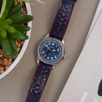 Montblanc Villeret Steel 44mm Blue Arabic numerals