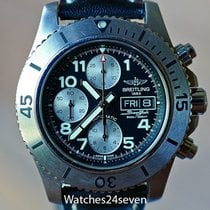 Breitling Superocean Chronograph Steelfish pre-owned 22mm Chronograph Date Leather