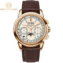 Patek Philippe Perpetual Calendar Chronograph pre-owned 41mm Silver Leather