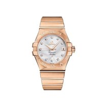 Omega Red gold Quartz Silver new Constellation Ladies