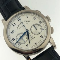A. Lange & Söhne pre-owned Manual winding 39.5mm Silver Sapphire crystal