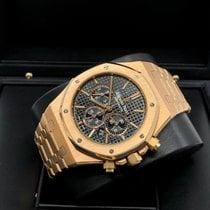 Audemars Piguet Rose gold Automatic Black No numerals 41mm pre-owned Royal Oak Chronograph
