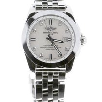 Breitling Galactic Steel 29mm Mother of pearl No numerals