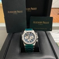 Audemars Piguet Royal Oak Chronograph Steel 41mm Blue No numerals United States of America, New York, New York