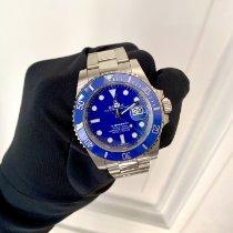 Rolex Submariner Date Or blanc 40mm Bleu Sans chiffres France, Paris