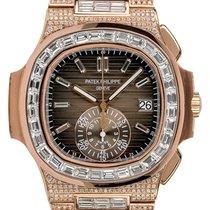 Patek Philippe Nautilus 5980R Αφόρετο Ροζέ χρυσό 40.5mm Αυτόματη
