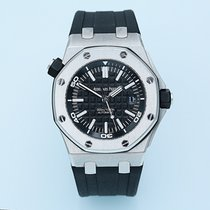 Audemars Piguet Royal Oak Offshore Diver Сталь Черный Без цифр