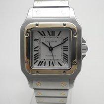 Cartier Santos Galbée Gold/Steel 32mm Silver Roman numerals