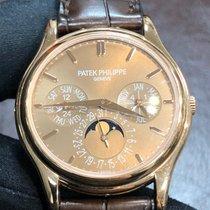 Patek Philippe Perpetual Calendar Růžové zlato 37.2mm Hnědá Bez čísel